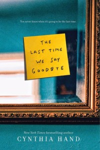 #Giveaway Review THE LAST TIME WE SAID GOODBYE by CYNTHIA HAND  @CynthiaHand @HarperTeen