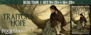 #Giveaway Interview TRAITOR'S HOPE by Virginia McClain@gwendamned 10.23