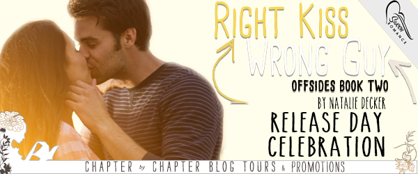 $10 #Giveaway Right Kiss Wrong Guy by Natalie Decker @AuthorNatDecker @swoonromance Ends 2.9