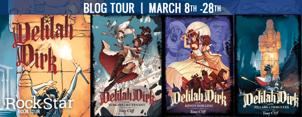 3 lucky winners will win all 3 books in the DELILAH DIRK Series, US Only.
