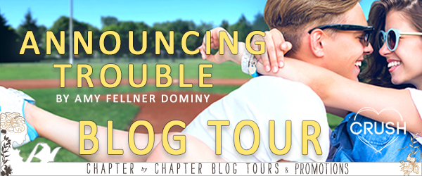 Signed Paperback Copy of ANNOUNCING TROUBLE by Amy Fellner Dominy