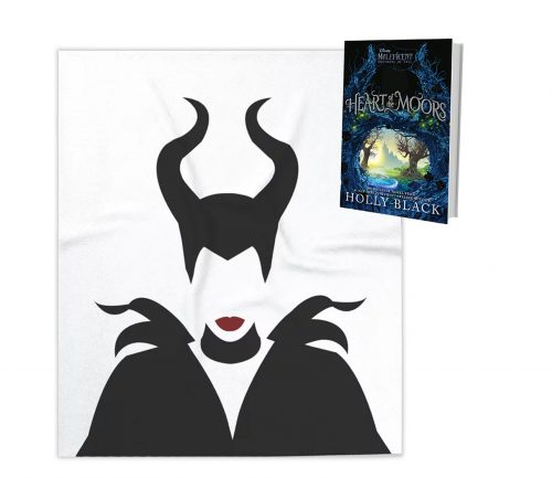(1) winner receives a copy of Heart of the Moors, plus a Maleficent throw blanket.