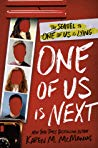 #Giveaway Review One of Us Is Next by Karen M. McManus @writerkmc @DelacortePressEnds 1.17