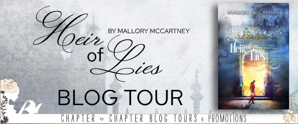 signed hardcover of Heir of Lies by Mallory McCartney